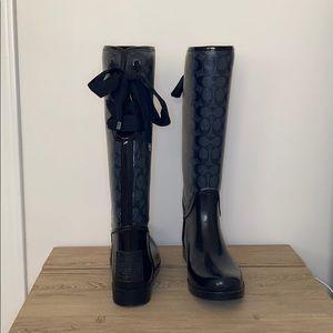 Coach Shoes - Coach Tall Rain Boots